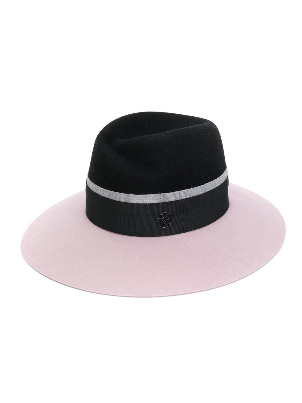 Maison Michel Black/pink Virginie Felt Hat