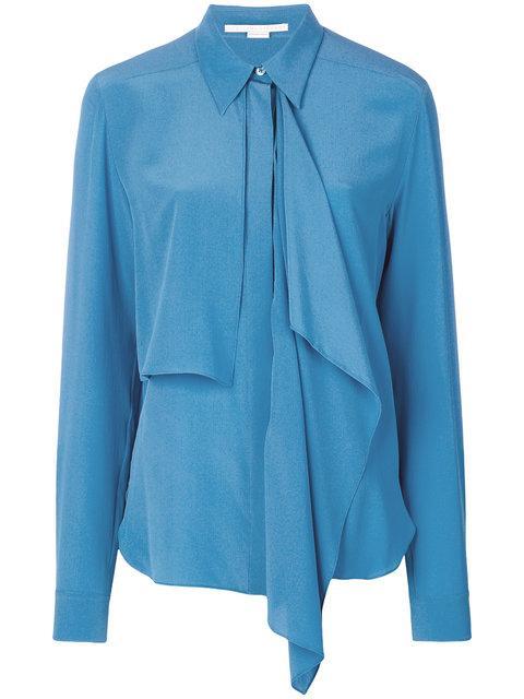 Stella Mccartney Draped Front Shirt - Blue