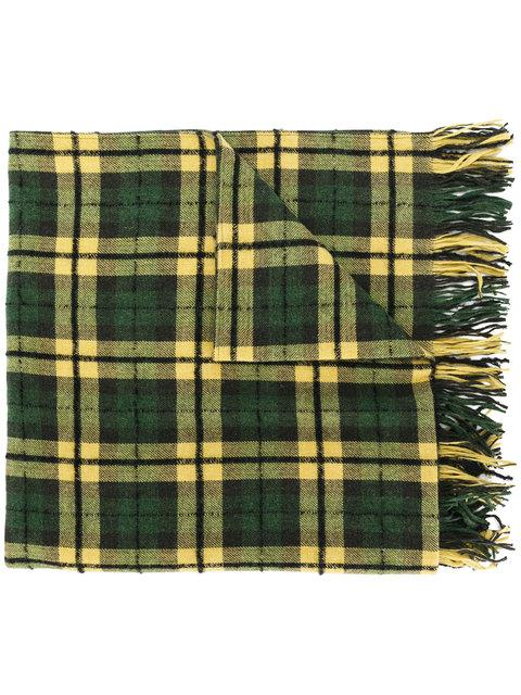 Our Legacy Checked Scarf In Green