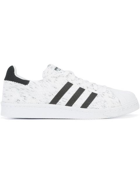 Adidas Originals Knitted Superstar Sneakers In White