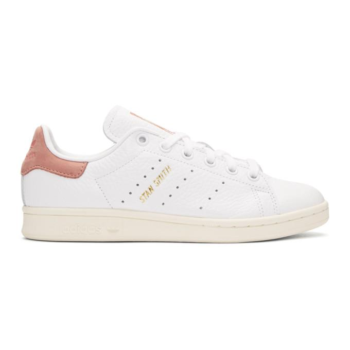 58eac321b79e9 Adidas Originals X Pharrell Williams White   Pink Stan Smith Sneakers