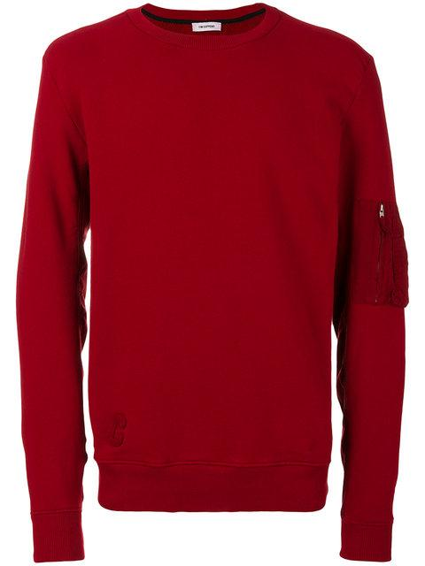 Tim Coppens Patch Detail Sweatshirt In Rosso