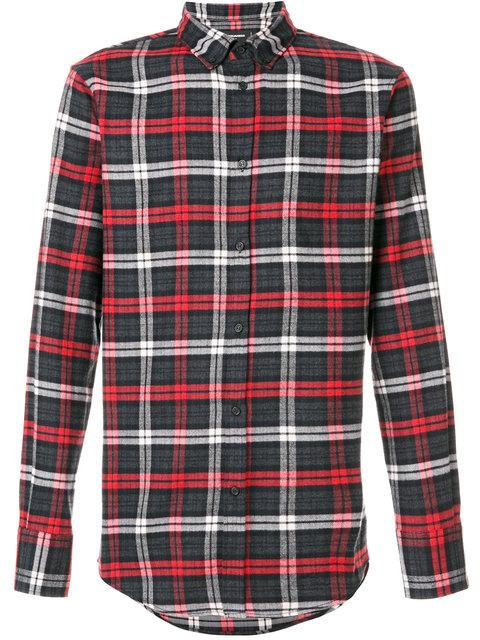 Dsquared2 Classic Checked Shirt In Black