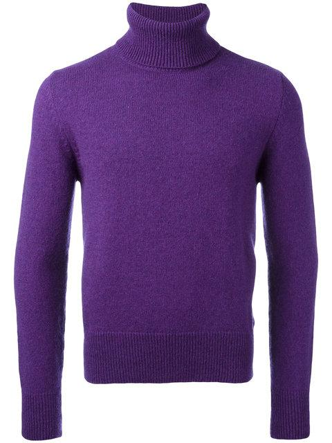 Ami Alexandre Mattiussi Turtleneck Sweater In Purple
