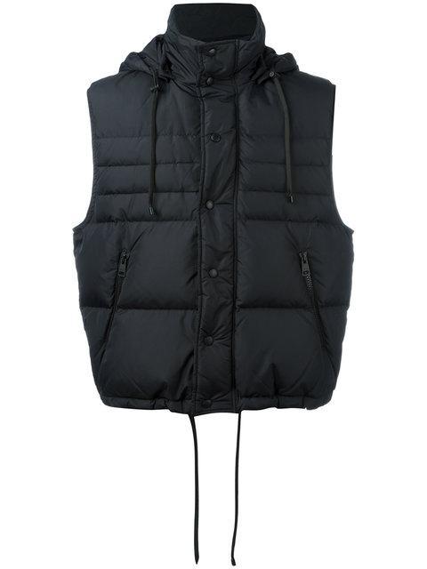 Ami Alexandre Mattiussi Sleeveless Down Jacket In Black