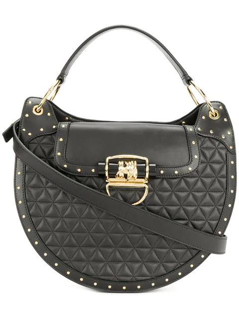 Balmain 44-30 Quilted Black Leather Shoulder Bag