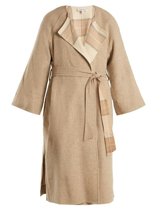 Elizabeth And James Alrick Reversible Wool-blend Coat In Beige