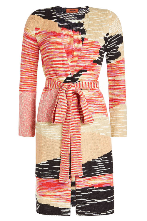 Missoni Printed Wool Cardigan With Cashmere In Multicolored