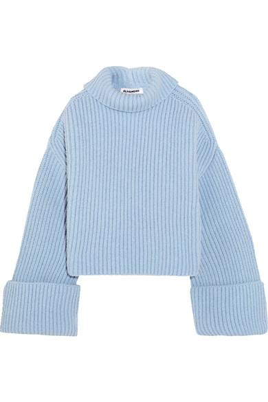 Jil Sander Oversized Ribbed Wool-blend Turtleneck Sweater