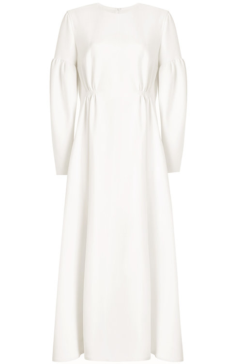 Emilia Wickstead Wool Dress In Beige