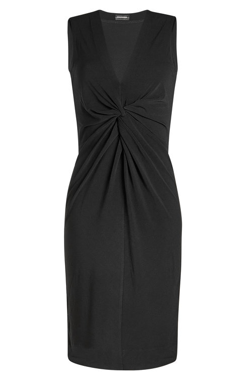 By Malene Birger Dress With Knotted Detail In Black