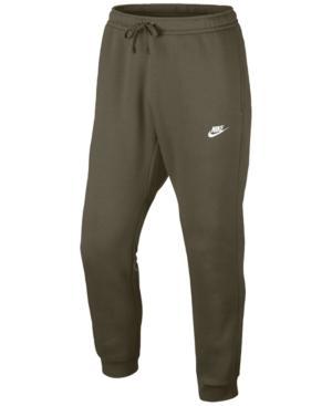 Nike Men's Fleece Jogger Pants In Olive