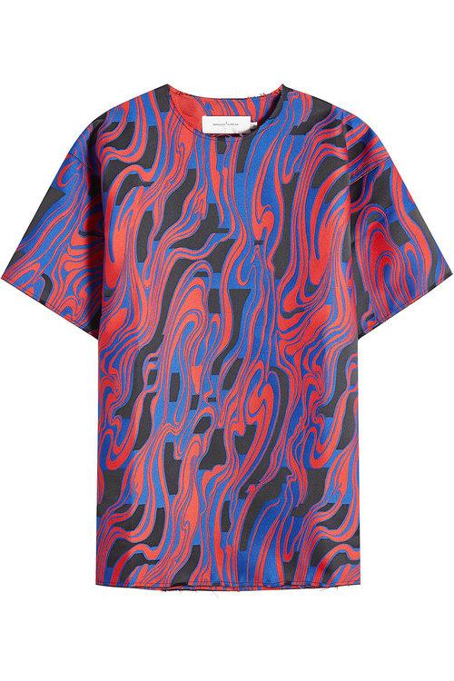Marques' Almeida Printed Top In Multicolored