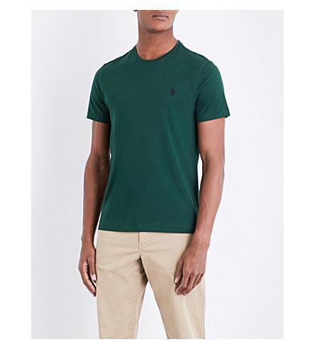 Polo Ralph Lauren Custom Slim-fit Cotton T-shirt In Northwest Pine