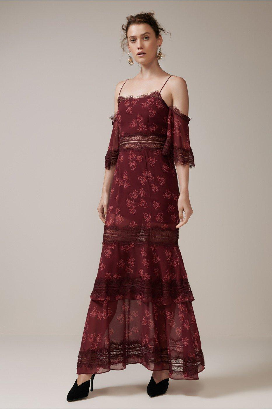 Keepsake Moonlight Gown In Plum Floral
