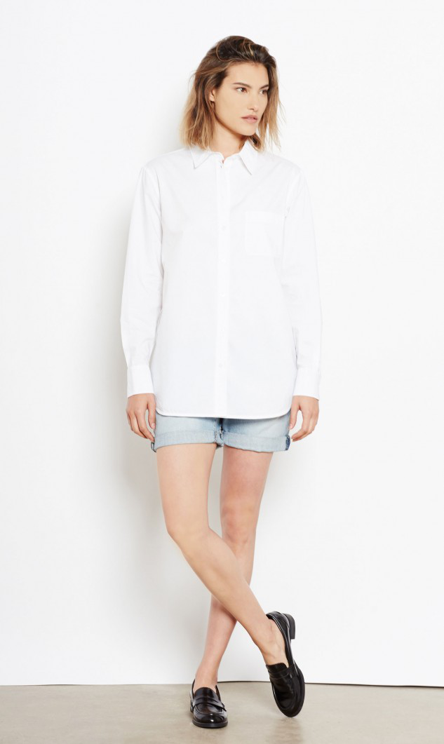 Equipment Kenton Cotton Shirt In Bright White
