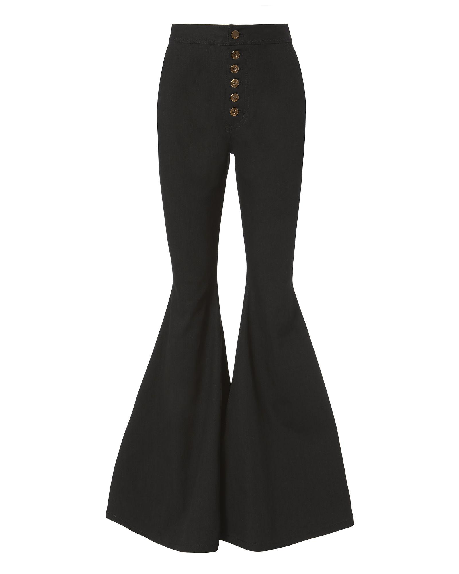 Ellery Ophelia Wide Leg Flare Pants In Black