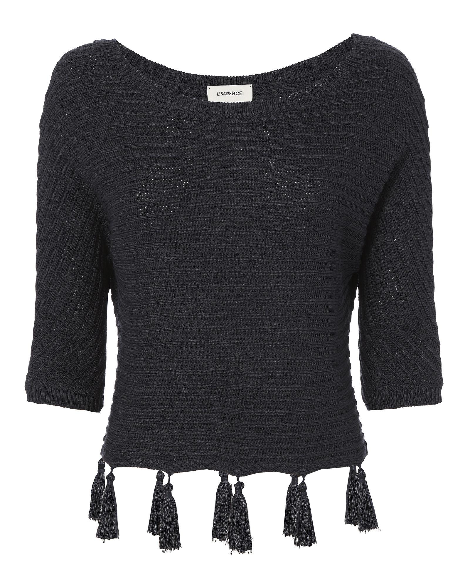 L Agence Alisia Tassel Detail Dolman Sweater