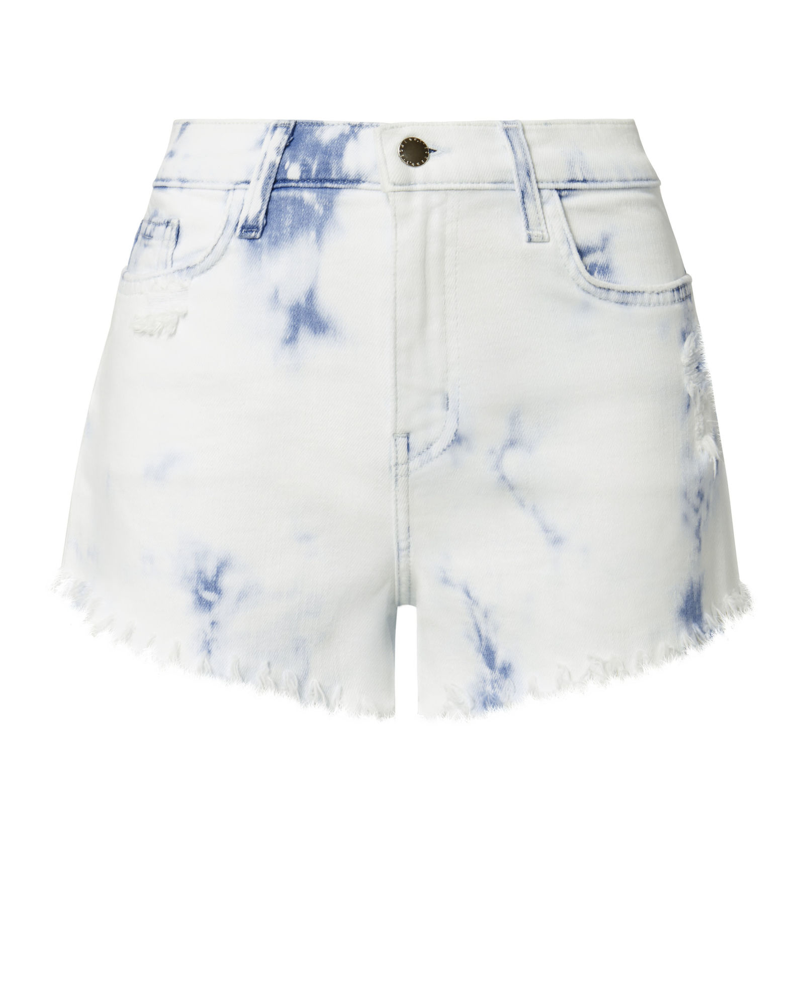 L Agence Zoe Bleached Cut Off Shorts