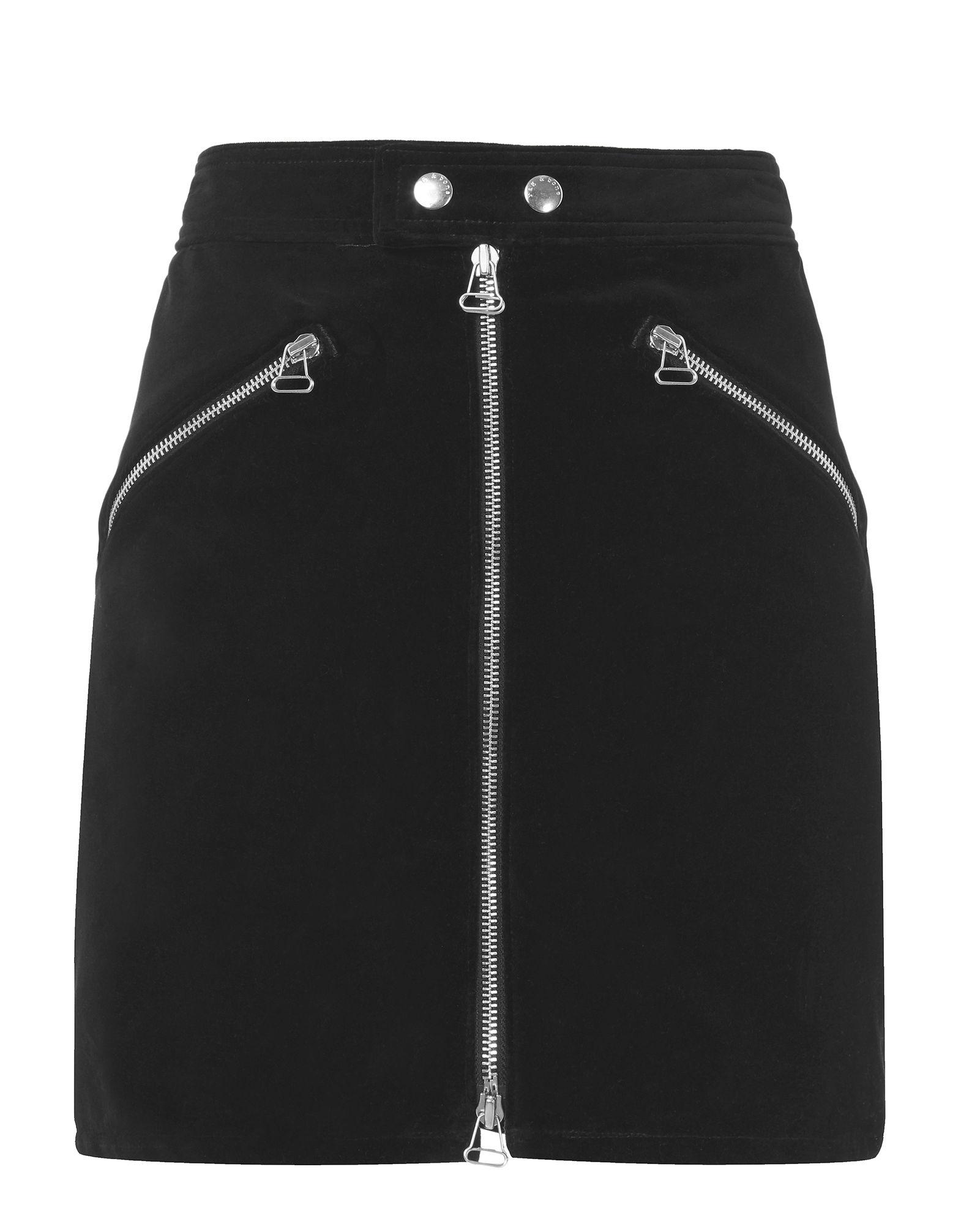 Rag & Bone Racer Velvet Skirt