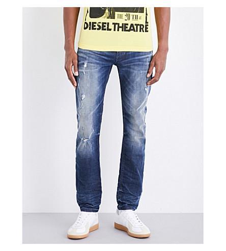 Diesel Thommer Skinny Stretch-denim Jeans In Medium Wash Blue