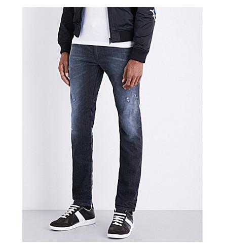 Diesel Thommer Skinny Stretch-denim Jeans In Dark Wash Indigo
