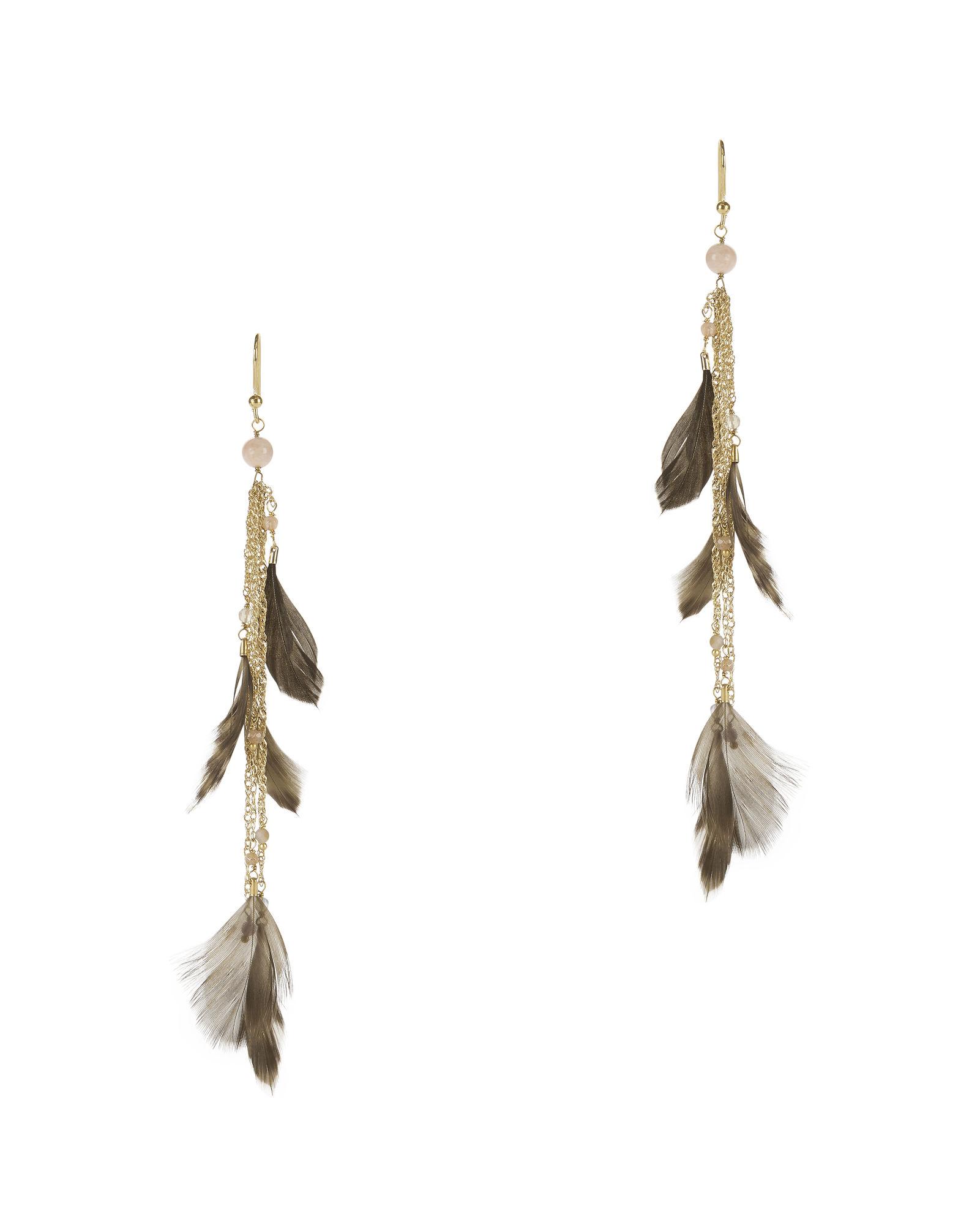 Rosantica Selva Feather Fringe Earrings