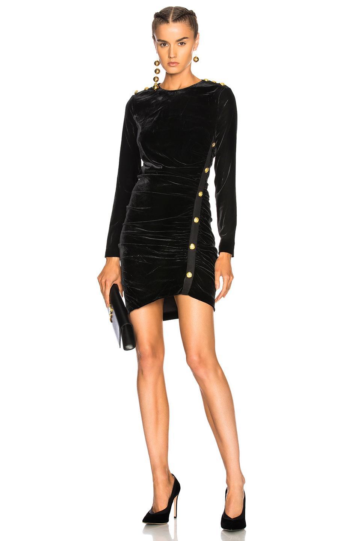 Veronica Beard Ira Velvet Dress In Black