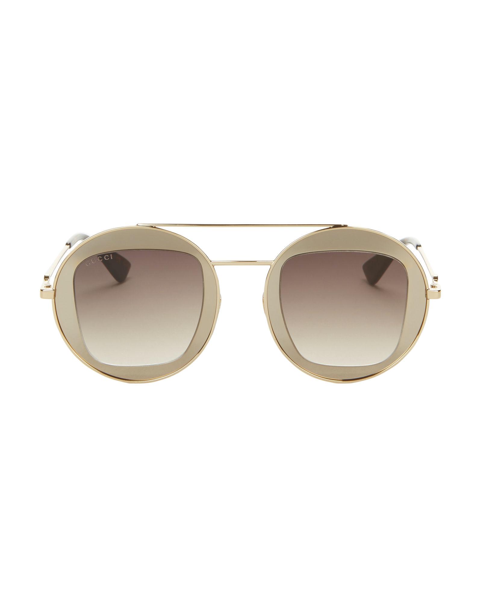 Gucci Round Gold Sunglasses