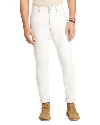 Polo Ralph Lauren Sullivan Slim Fit Jeans In Denim White