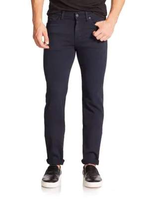 7 For All Mankind Luxe Performance Slimmy Slim Straight Fit Jeans In Navy