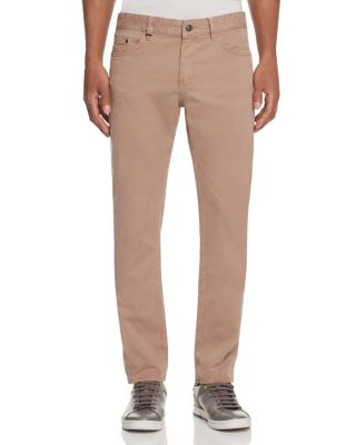 Hugo Boss Delaware Soft Twill Slim Fit Jeans In Khaki - 100% Exclusive