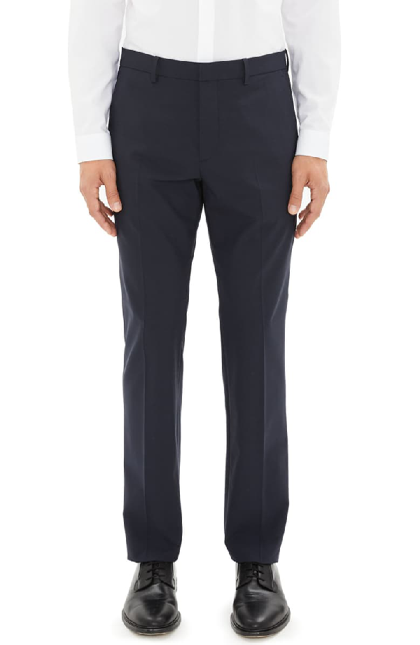 Theory Mayer New Tailor 2 Wool Dress Pants In Navy