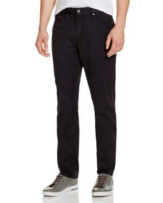 Michael Kors Slim Fit Twill Pants In Black