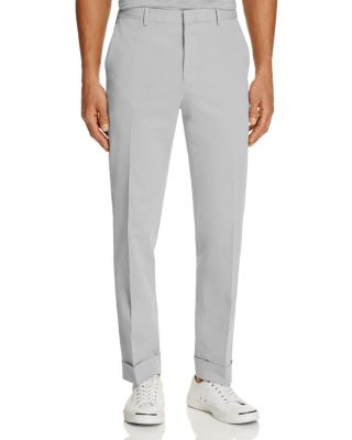 Polo Ralph Lauren Cotton-linen Blend Slim Fit Trousers - 100% Exclusive In Gray