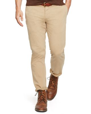 Polo Ralph Lauren Bedford Straight Fit Chino Pants In Tan