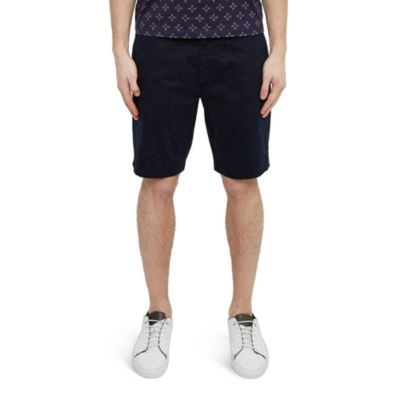 Ted Baker Floral Printed Shorts In Navy