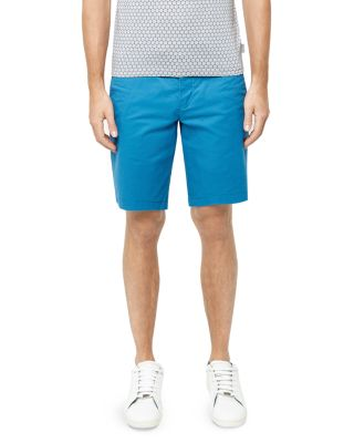 Ted Baker Corsho Relaxed Fit Chino Shorts In Bright Blue