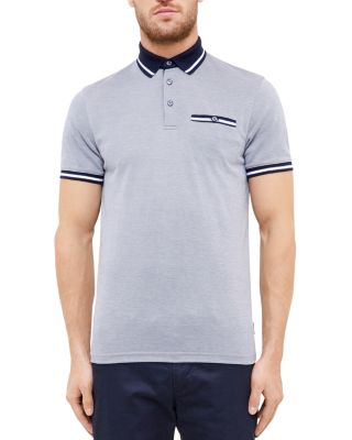 Ted Baker Doug Soft Touch Regular Fit Polo In Navy