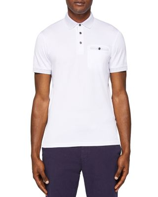 Ted Baker Rickee Solid Regular Fit Polo In White