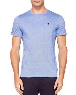 Ted Baker Vue Jacquard T-shirt In Blue