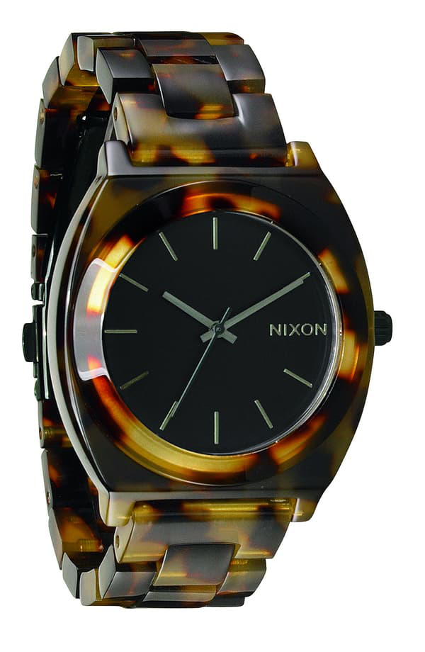 Nixon The Time Teller Acetate Watch, 40mm In Tortoise