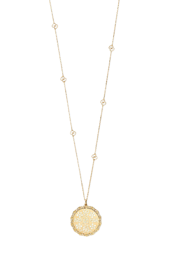 ac6a7f4ae Gucci 18K Yellow Gold Icon Blooms Pendant Necklace, 31.5