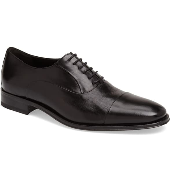 Bruno Magli Men's Maioco Cap Toe Oxfords In Black Calf
