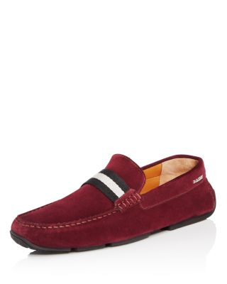 Bally Pearce Suede Drivers In Vino