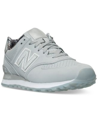 New Balance Women's 574 Luxe Reptile Casual Sneakers From Finish Line In Silver Mink