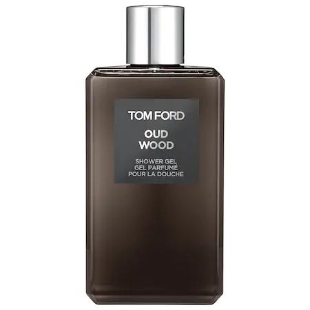 Tom Ford Oud Wood Shower Gel, 8.4 Oz./ 250 Ml In Dark Green