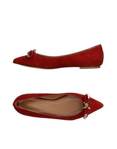 Dsquared2 Ballet Flats In Brick Red