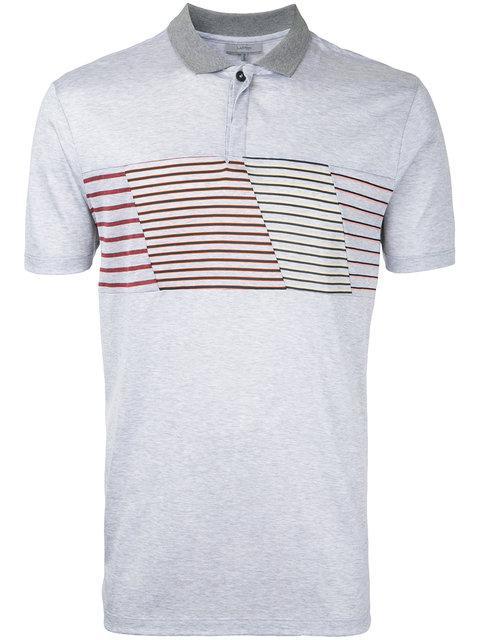 Lanvin Striped Panel Polo Shirt