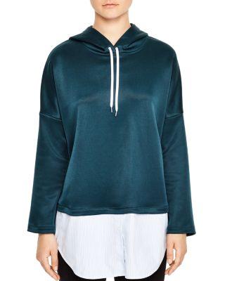 Sandro Bastien Hooded Sweatshirt In Forest Green
